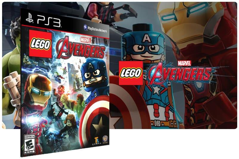 Banner do game Lego Marvels Avengers para PS3