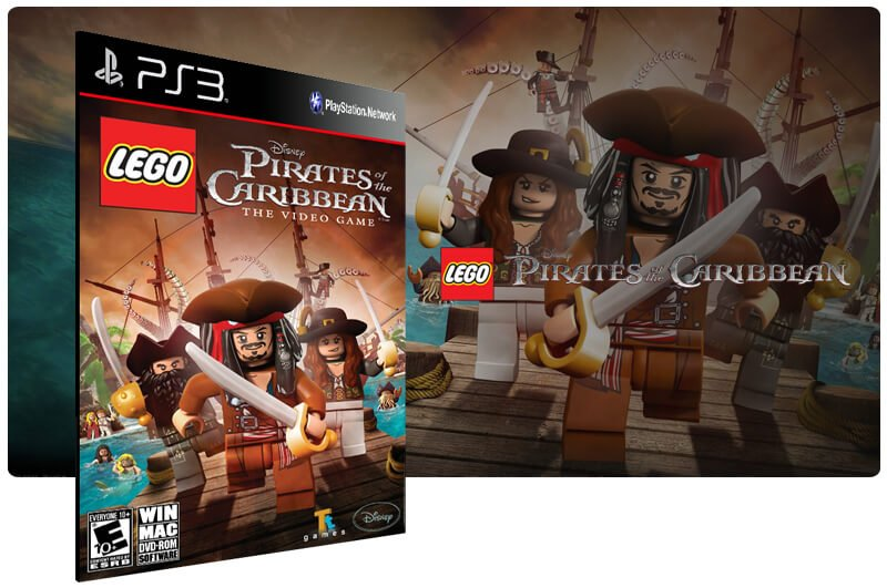 Banner do game Lego Pirates of The Caribbean para PS3