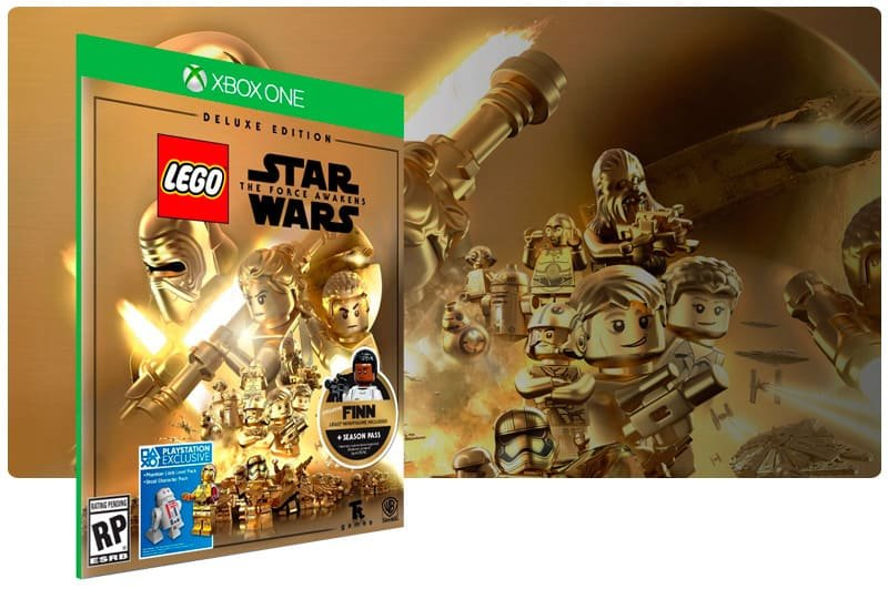 Banner do game Lego Star Wars: The Force Awakens Edição Deluxe em mídia digital para Xbox One