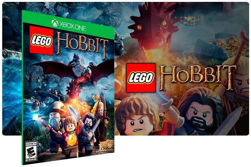 Banner do game Lego The Hobbit em mídia digital para Xbox One