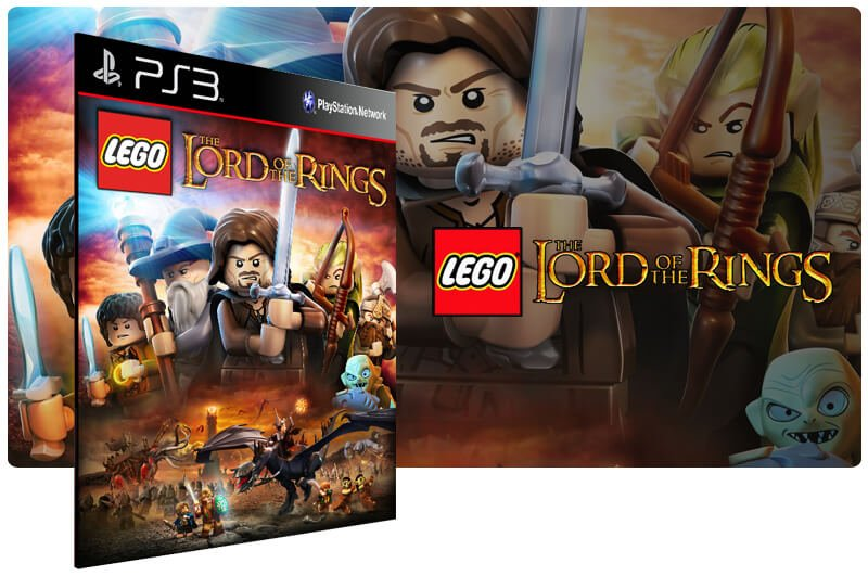Banner do game Lego The Lord of The Rings para PS3