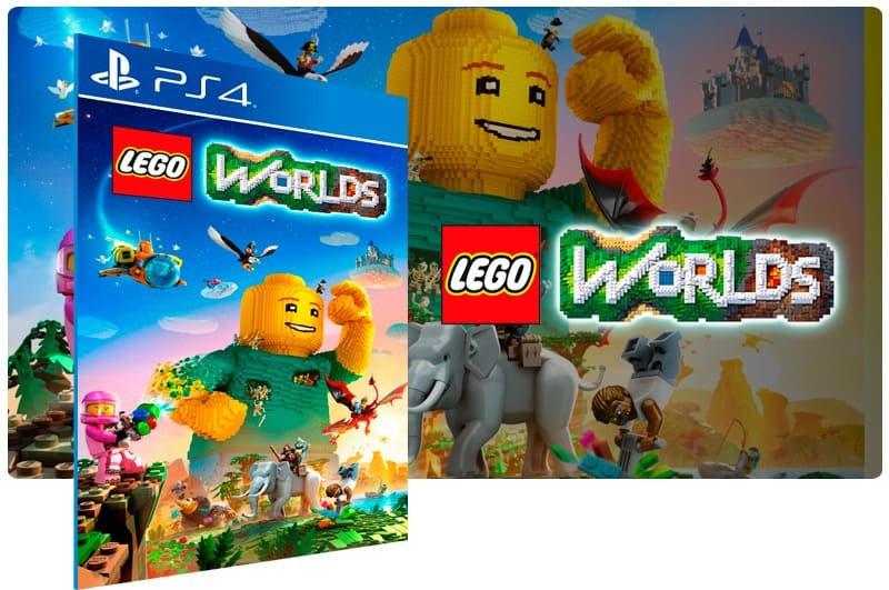 Banner do game Lego Worlds para PS4