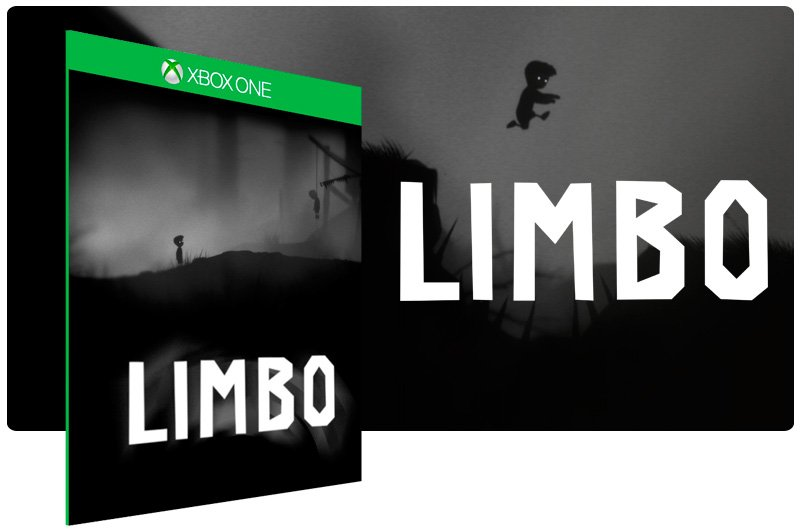 Banner do game Limbo em mídia digital para Xbox One