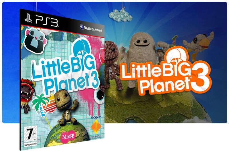 Banner do game Littlebigplanet 3 para PS3