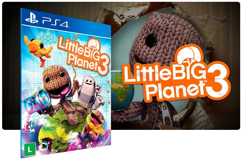 Banner do game Littlebigplanet 3 para PS4