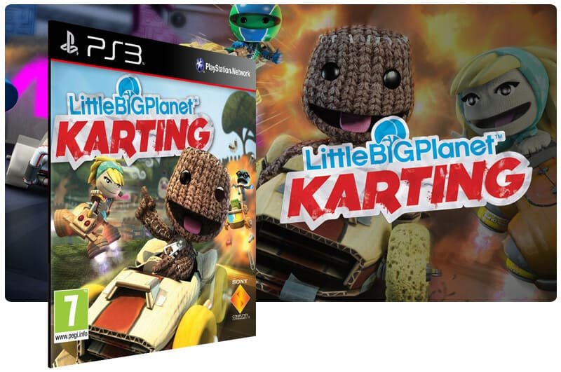 Banner do game Littlebigplanet Karting para PS3