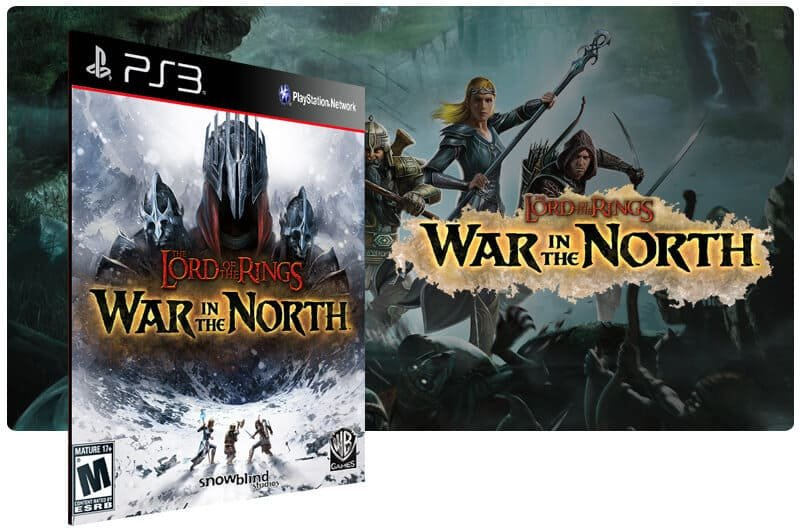 Banner do game Lord of the Rings War in the North para PS3