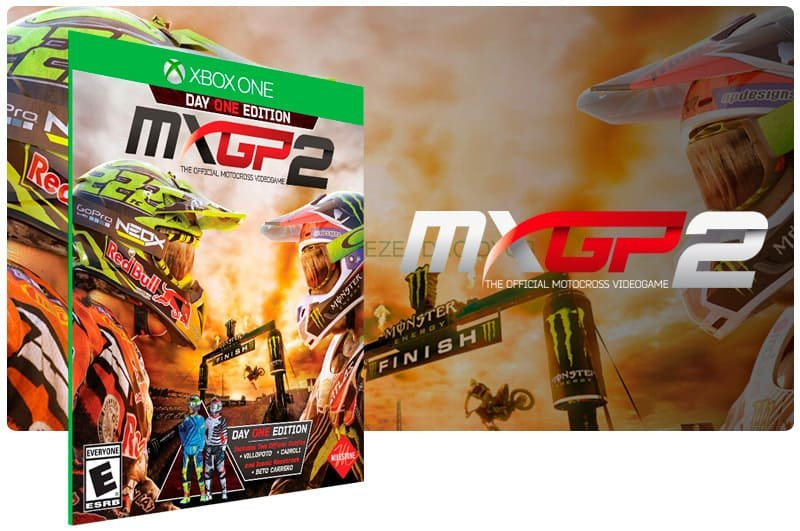 Banner do game MXGP 2 The Official Motocross Videogame em mídia digital para Xbox One