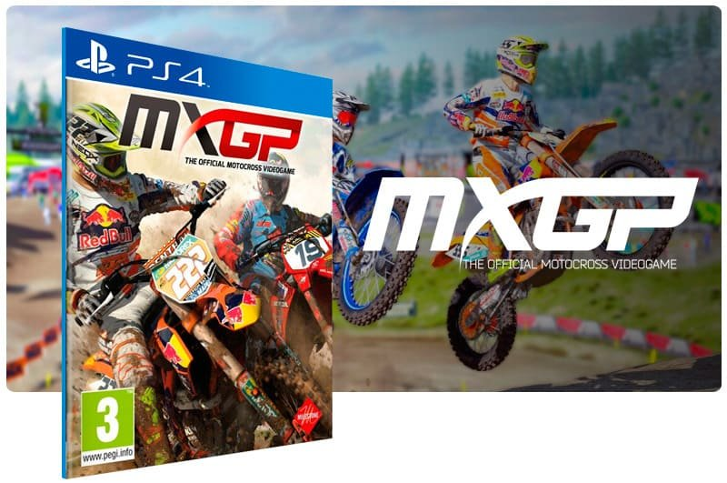 Banner do game MXGP The Official Motocross Videogame para PS4