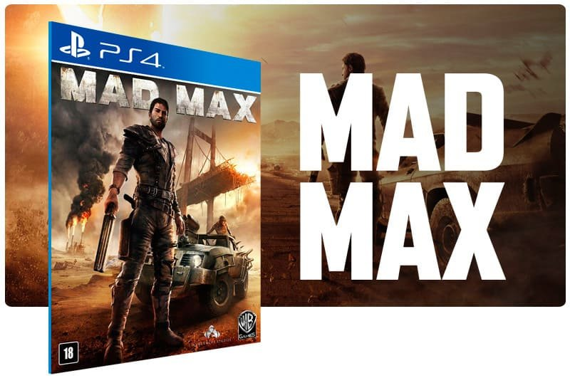 Banner do game Mad Max para PS4