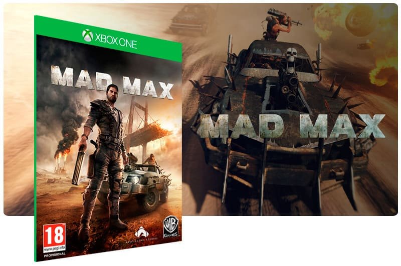 Banner do game Mad Max em mídia digital para Xbox One