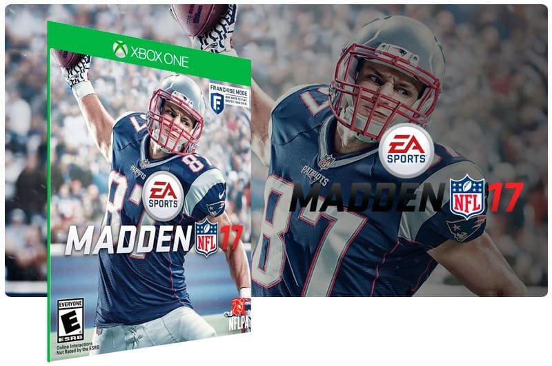 Banner do game Madden NFL 17 em mídia digital para Xbox One
