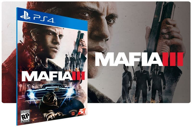 Banner do game Mafia 3 para PS4