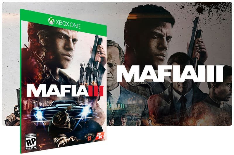 Banner do game Mafia 3 em mídia digital para Xbox One