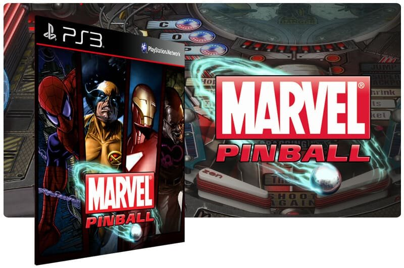 Banner do game Marvel Pinball para PS3