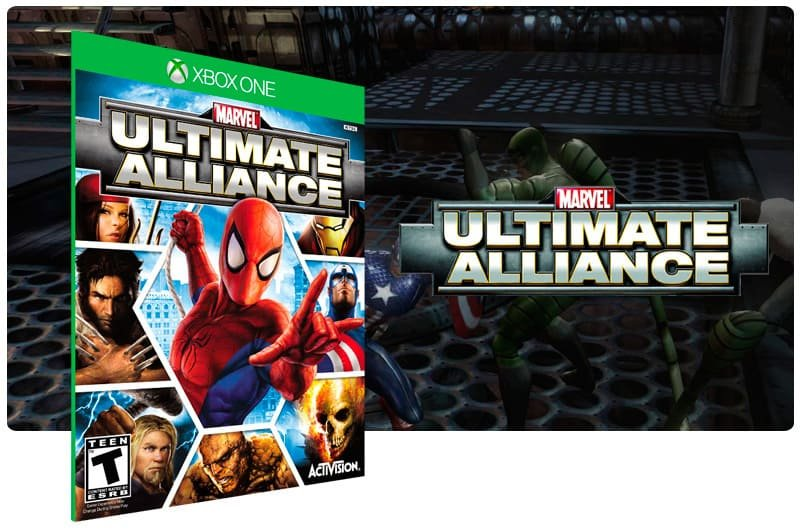 Banner do game Marvel: Ultimate Alliance em mídia digital para Xbox One