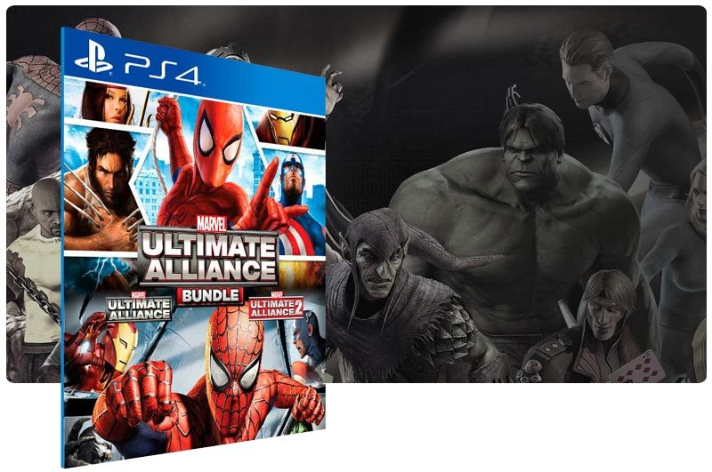 Banner do game Marvel Ultimate Alliance Bundle para PS4