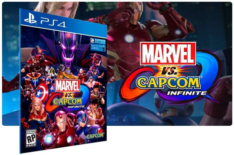 Banner do game Marvel vs Capcom Infinite Standard Edition para PS4