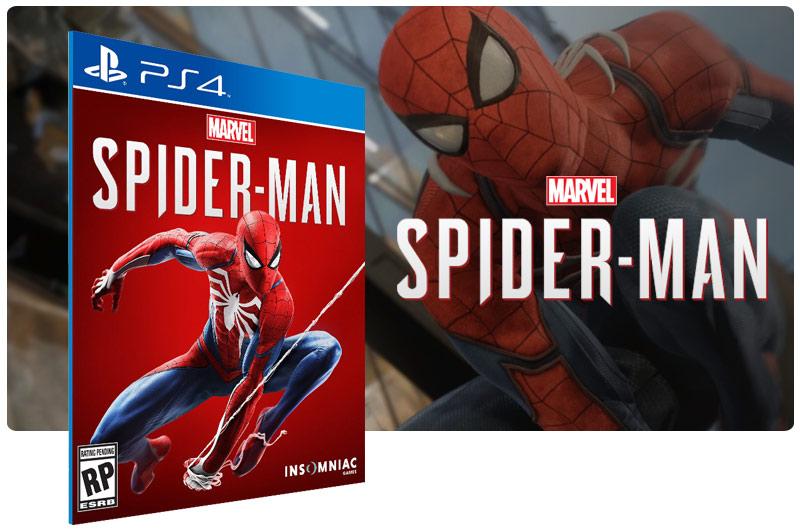 Banner do game Marvels Spider-Man em mídia digital para PS4