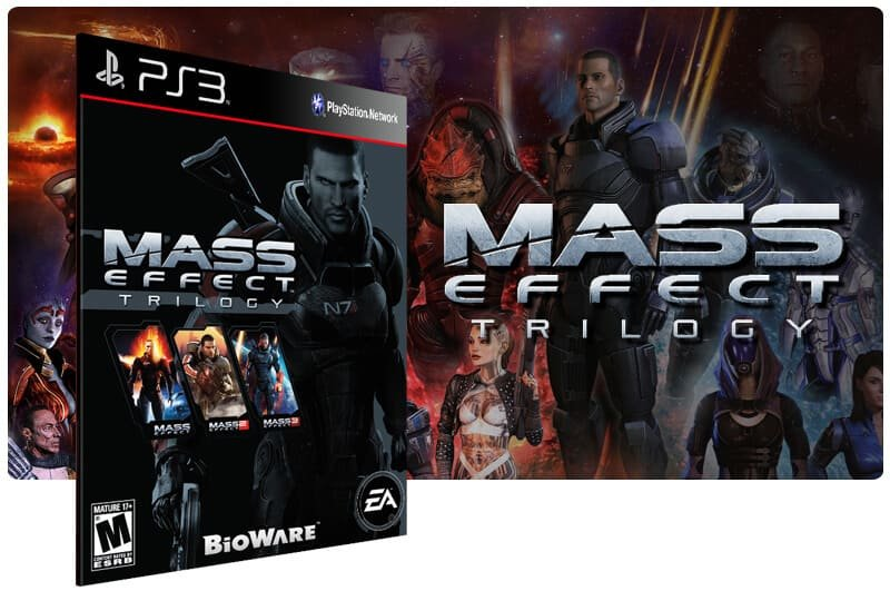 Banner do game Mass Effect Trilogy para PS3