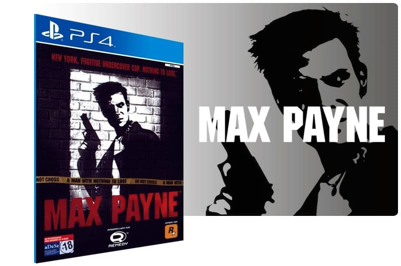 Banner do game Max Payne para PS4