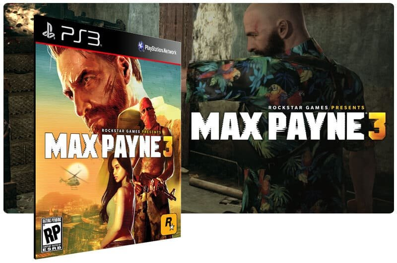 Banner do game Max Payne 3 para PS3