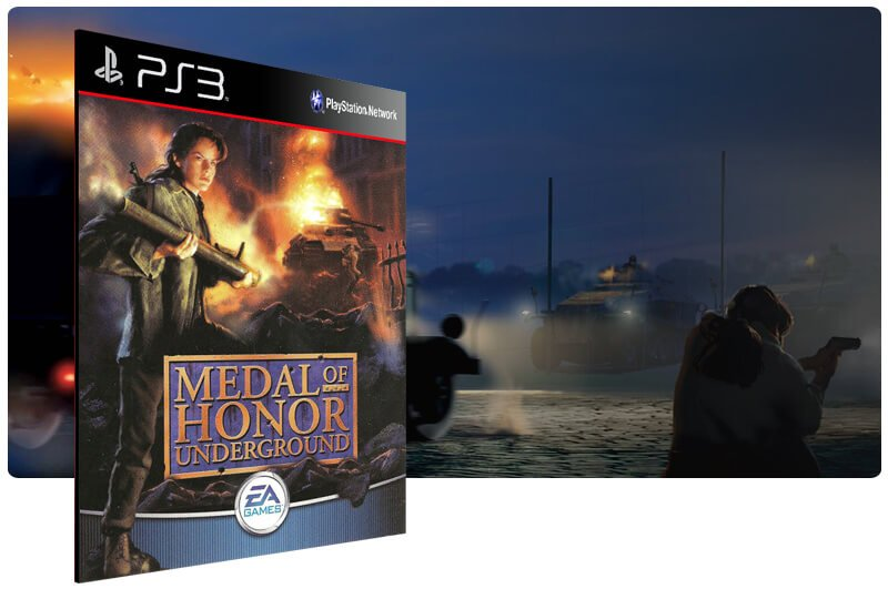 Banner do game Medal Of Honor Underground (Psone Classic) para PS3