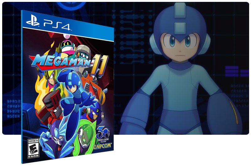 Banner do game Mega Man 11 para PS4