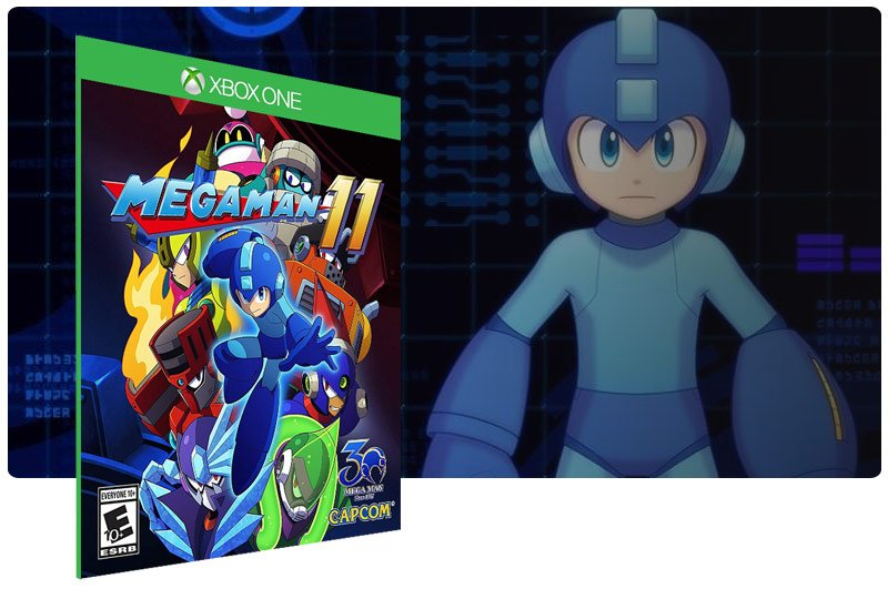 Banner do game Mega Man 11 em mídia digital para Xbox One