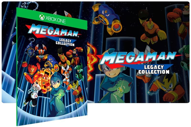 Banner do game Mega Man Legacy Collection em mídia digital para Xbox One