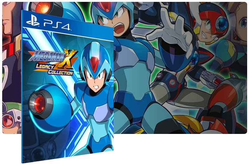 Banner do game Mega Man X Legacy Collection 1 para PS4