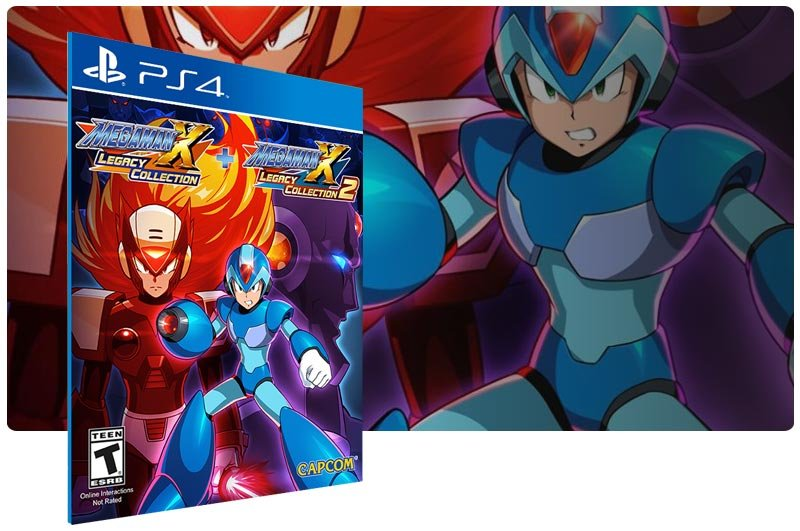 Banner do game Mega Man X Legacy Collection 1+2 para PS4