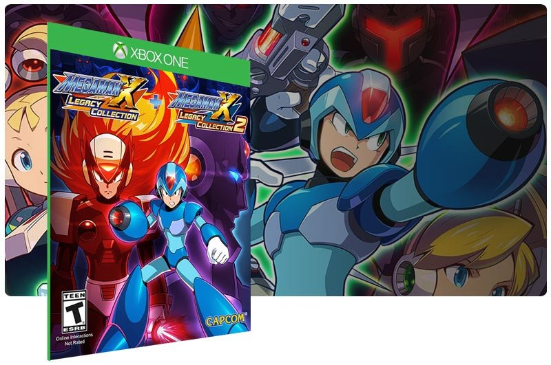 Banner do game Mega Man X Legacy Collection 1+2 em mídia digital para Xbox One