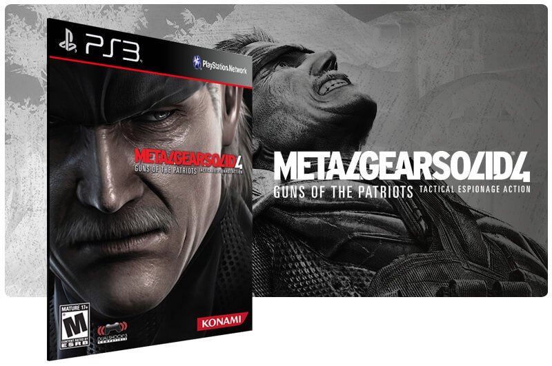 Banner do game Metal Gear Solid 4: Guns of the Patriots para PS3