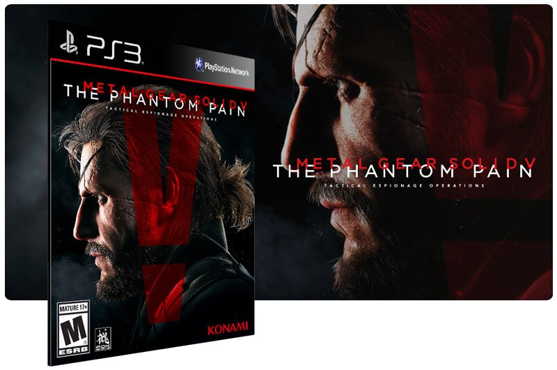 Banner do game Metal Gear Solid 5: The Phantom Pain para PS3