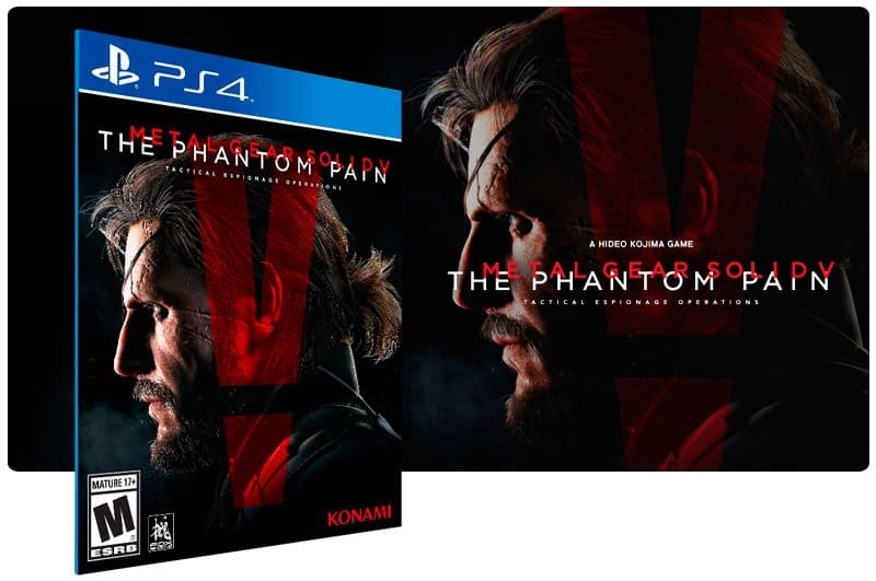 Banner do game Metal Gear Solid 5 The Phantom Pain para PS4