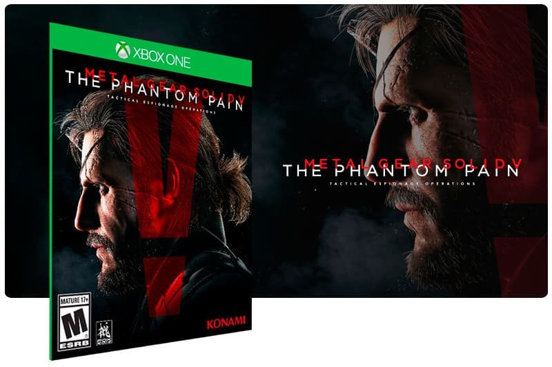 Banner do game Metal Gear Solid V: The Phantom Pain em mídia digital para Xbox One