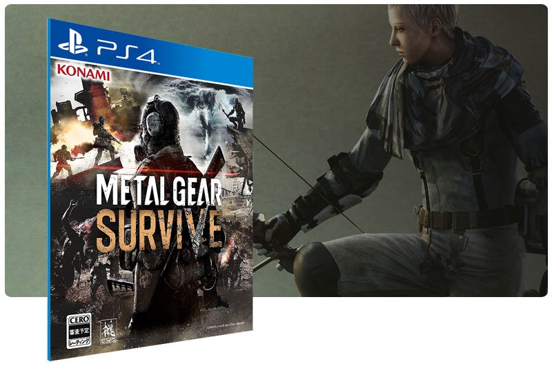 Banner do game Metal Gear Survive em mídia digital para PS4