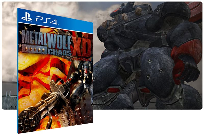 Banner do game Metal Wolf Chaos XD para PS4
