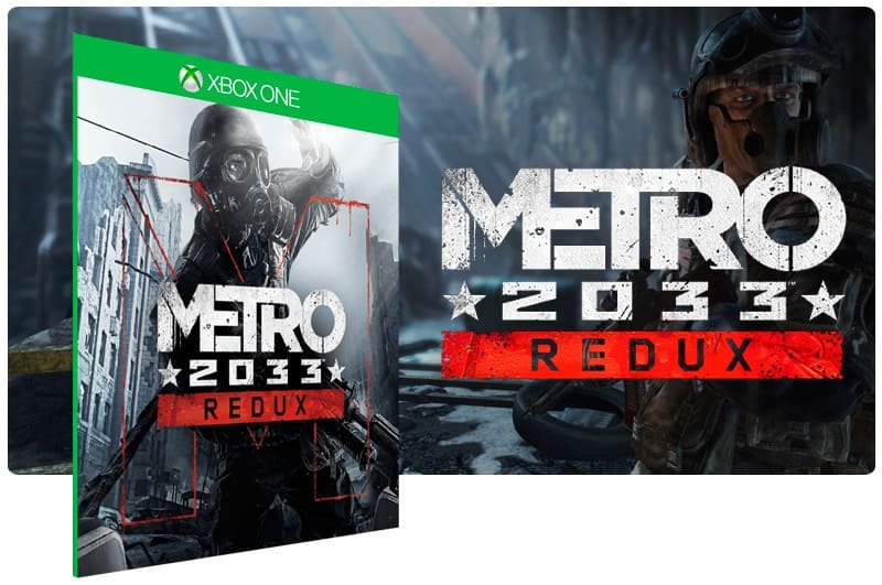 Banner do game Metro 2033 Redux em mídia digital para Xbox One