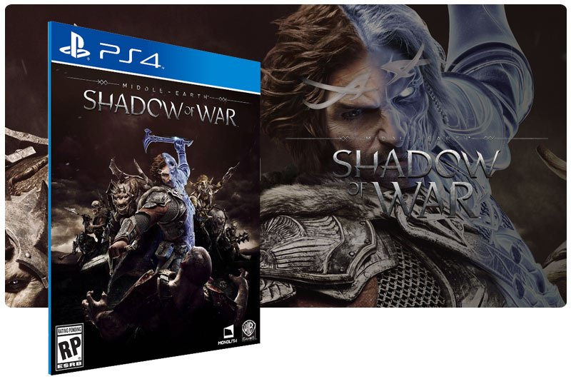 Banner do game Middle Earth Shadow of War para PS4