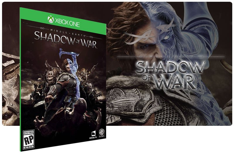 Banner do game Middle Earth: Shadow of War em mídia digital para Xbox One