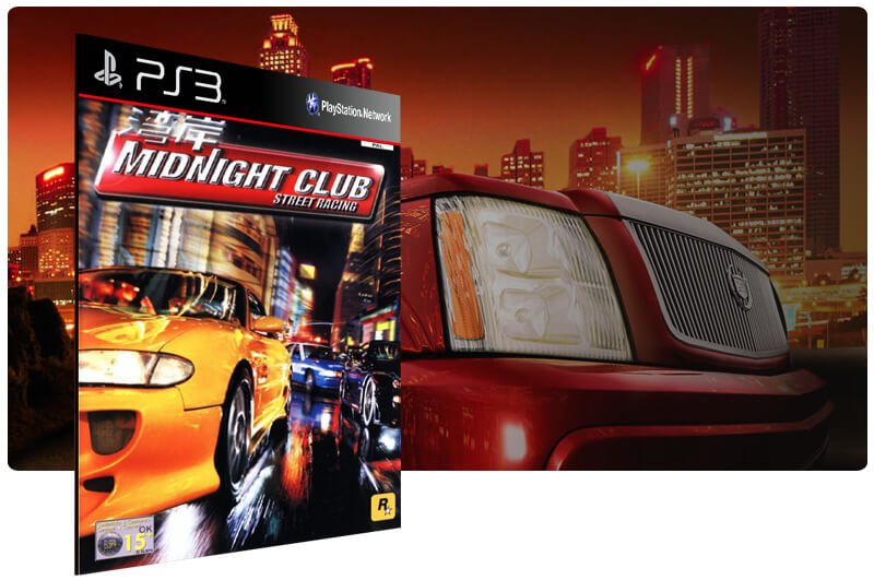 Banner do game Midnight Club (Ps2 Classic) para PS3