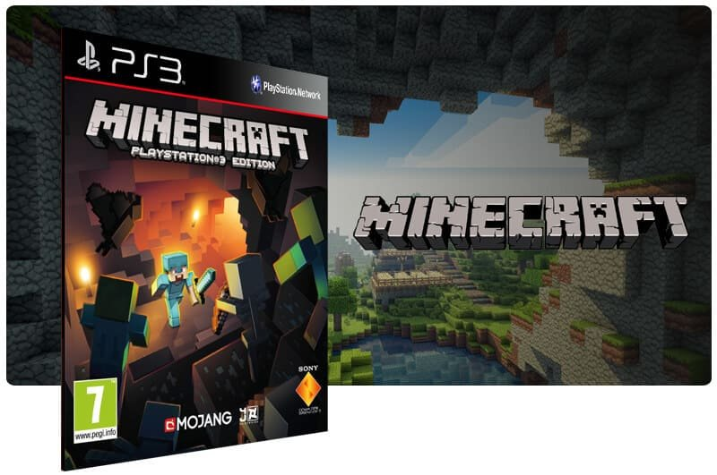 Banner do game Minecraft para PS3