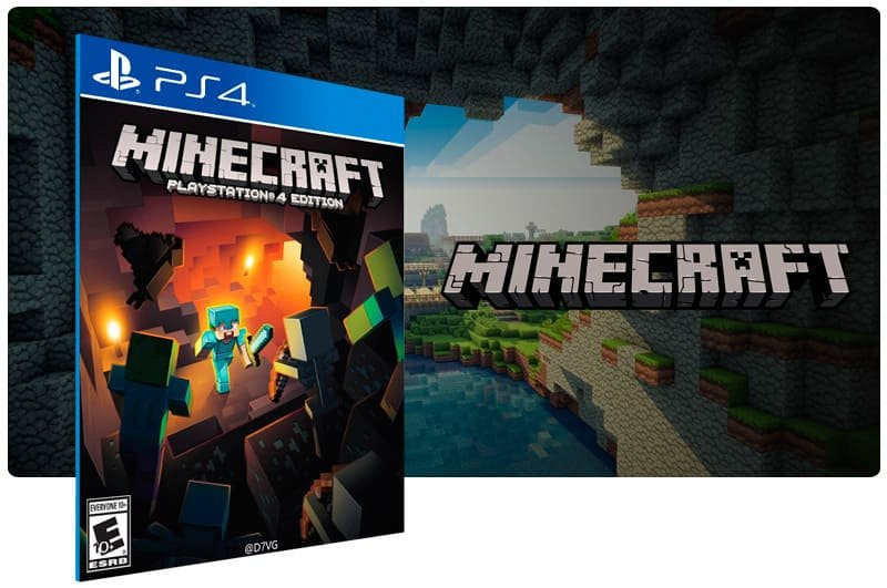 Banner do game Minecraft para PS4