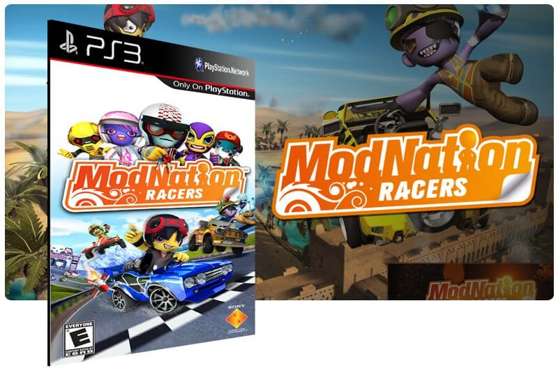 Banner do game Modnation Racers para PS3