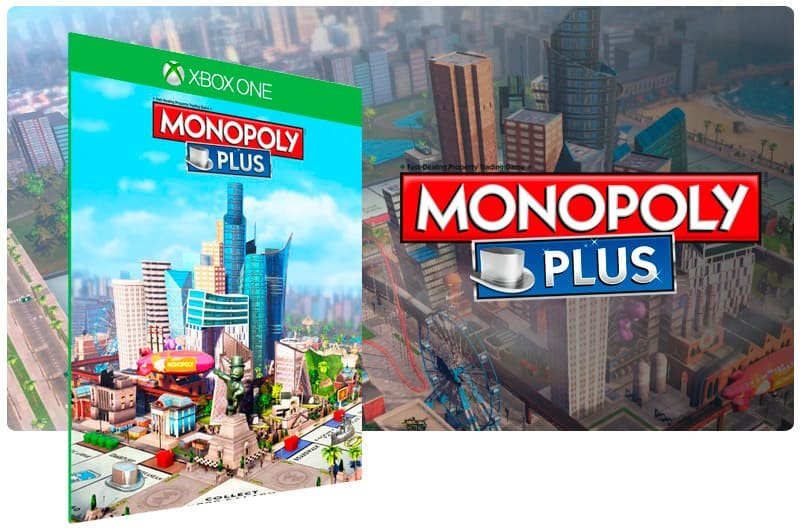 Banner do game Monopoly Plus em mídia digital para Xbox One