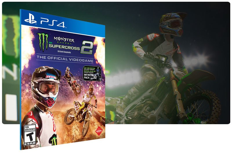 Banner do game Monster Energy Supercross - The Official Videogame 2 para PS4