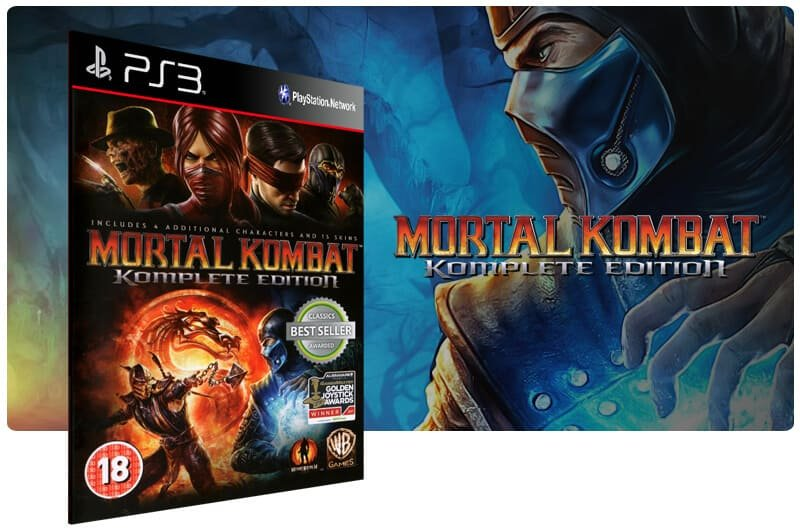 Banner do game Mortal Kombat Komplete Edition para PS3