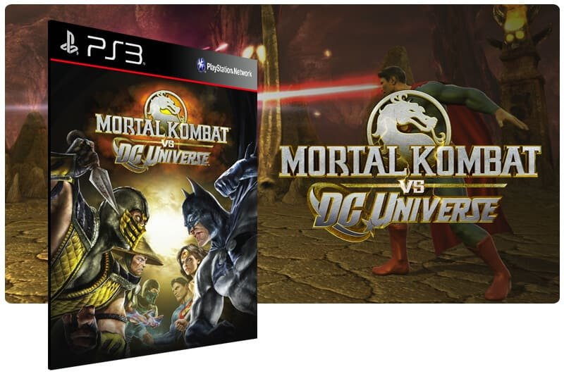 Banner do game Mortal Kombat Vs. Dc Universe para PS3